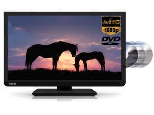 "Toshiba 22D1333B 22"" LED TV DVD Combi Black Freeview Full HD 1080p Widescreen £89.00 (Refurb) @ Tesco (eBay)"