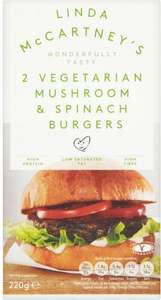 Linda McCartney Mushroom & Spinach Burgers (2 per pack - 220g) was £1.75 now 3 for 2 @ Waitrose