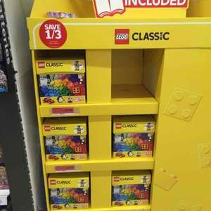 Lego classic 1/3 off - £20 to £13.33 in Sainsburys.