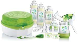 MAM Breastfeeding and Steriliser Starter Set 75% off at Amazon £24.99