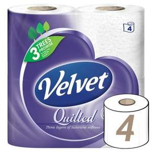 Costco Velvet Toilet Roll 40 pack £9.58 (incl VAT)  24p per roll  22/2 - 13/3 offer