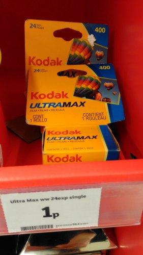 Kodak Ultramax 24 exp. 400 film 1p @ Sainsbury's