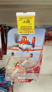Disney Planes Die Cast Figures.  Includes Planes and the Trucks from the film.  Reduced from £8 each to Only £1.50 each @ Tesco Instore