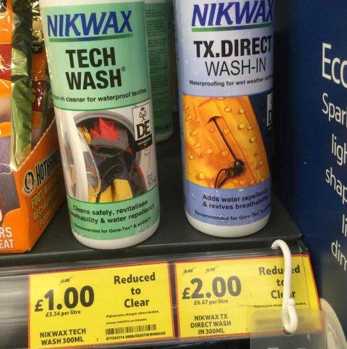 Nikwax - Tech Wash & TX direct Wash-In £1 at Tottenham Hale Tesco