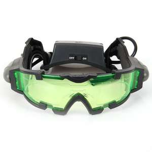 Hot Saling JYW-1312 Night Vision Goggles Firecrackers Protective Goggles with Flip-out Lights for Both Adult and Child  -  BLACK AND GREEN £5.04 @ Gearbest