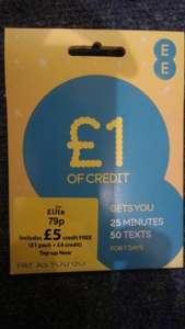 EE SIM with £5 credit 79p @ Homebargains
