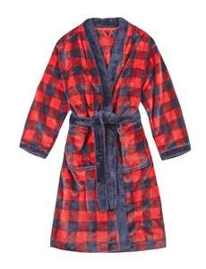 Anti Bobble Checked Dressing Gown: ages 6-7 or 7-8 years (Was £15) Now £5.00 at M&S (Free C&C)