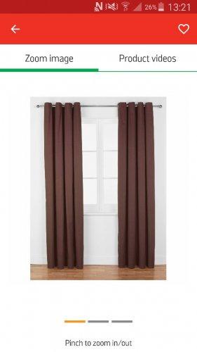 argos 90x90 curtains £7.99