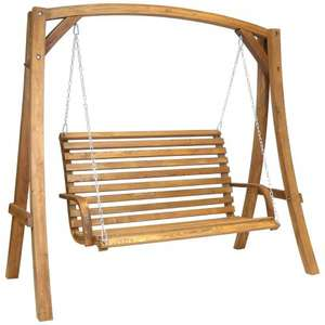 3 SEATER LARCH WOOD WOODEN GARDEN OUTDOOR SWING SEAT BENCH HAMMOCK 1.9M (free delivery) £189.99 @ Amazon / BuyDirect4u