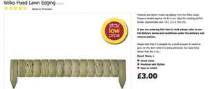 Wilko Fixed Lawn Edging £3