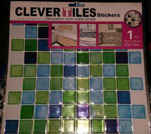 Clever Tiles 10 inch x 10 inch, 1 Piece, Various Colours, £1 In Store @ Poundworld