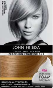 Half price John Frieda permanent hair dye at Boots was £9.99 now £4.99 @ Boots free c&c