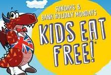 Children under 10 eat free on Sundays  at crown carvery