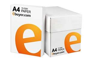 2500 Sheets (5 Reams x 500 Sheets) A4 Paper 75gsm £4.99 @ Amazon - Sold by Ebuyer