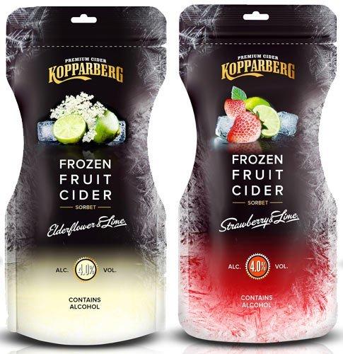 Kopparberg Frozen Fruit Cider Elderflower & Lime, Strawberry & Lime [250ml] 79p @ B&M