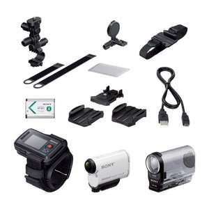 Sony HDR-AS200VB Action Camera with Live View Remote Wrist Strap and Bike Kit (with Roll Bar and Helmet Mount) £195 @ Amazon