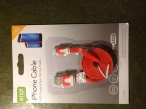 Cheap flat Lightning Cables That Work £1 @ Poundland