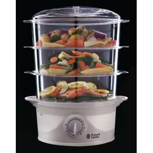 Russell Hobbs 21140 Three Tier Food Steamer 9 L - 800 Watt £20.99 del @ Amazon