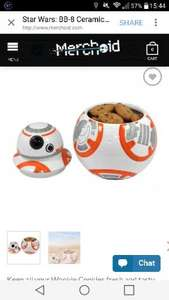 Star wars BB-8 Ceramic cookie jar (pre order) £27.99 + worldwide free delivery @ merchoid