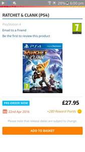 Ratchet & clank (PS4) £25.15 @ The Game Collection