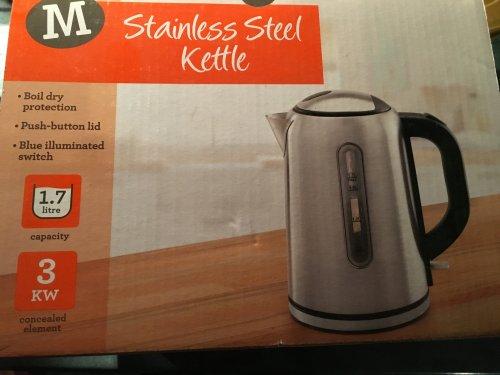 stainless steel kettle £10 @ Morrisons