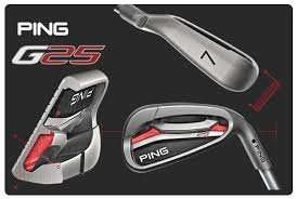 Ping G25 irons 5-SW Steel RRP £529 - £329 at Golfworx - Free Delivery