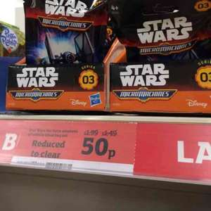 star wars micro machines blind bag 50p Sainsburys
