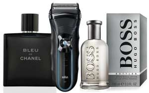 Men's Mystery 3-Piece Gift from £9.98 with Chance to Get Chanel, Tom Ford, Braun and More @ Groupon