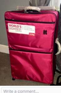 Lightweight suitcase 2.2kg £9.25 @ Tesco in store - Broughton