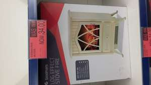 Goodmans log effect stove fire £34 at B&M