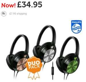 Duopack Philips FX4M Headphones with mic £42.90 delivered @ iBood