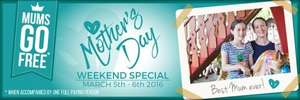 Mum's go FREE Mother's Day Weekend, 5th-6th March 2016 @ Gulliver's World (Worth £12.00)