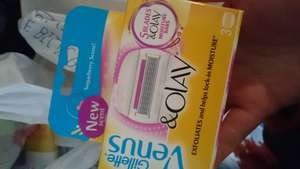 Gillette Venus Sugarberry Blades reduced from £11 to £2.75 Tesco Merthyr Tydfil