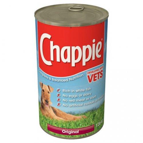 Chappie original dog meat 1.26kg 80p Tesco instore