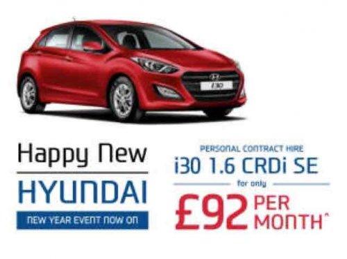 Hyundai i30 1.6 CRDi SE £3312 24m lease @ Westlandsmotorgroup.co.uk