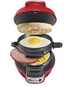 Hamilton Beach Electric Breakfast Sandwich Maker - Red. Amazon £12.54 prime or £17.29 non prime