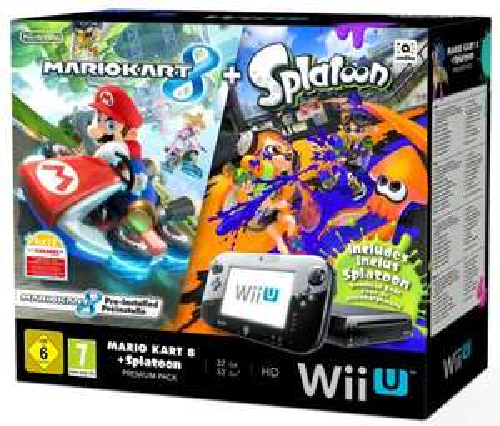 Nintendo Wii U 32gb Premium Pack with Mario Kart 8 + Splatoon £199.99 @ Amazon
