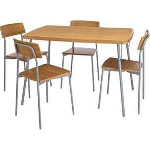 Kitchen Dining Table and 4 Oak Effect Chairs £43.99 ARGOS