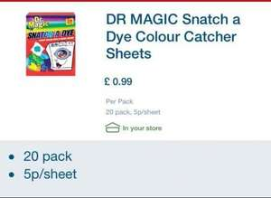 colour catcher sheets 20' 99p @ lidl