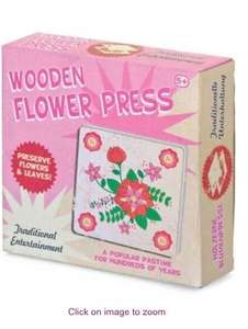 Hawkins Bazaar Traditional Wooden Flower Press was £6.00 now £1.49 75% off , also some Easter clearance listed below free click and collect