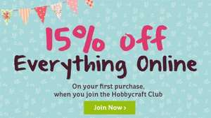 Get 15% Off Everything When You Join The Hobbycraft Club
