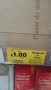 Tenancy Agreement instore £1 @ Tesco