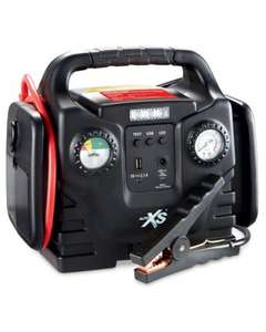 Jump Start with Compressor with built in LED light, 12v & usb socket. 3 year warranty £49.99 Aldi