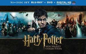 Harry Potter Hogwarts Collection 31 Disc Box Set Blu-ray DVD  £46.34 Amazon