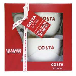 Costa Coffee Storage Jar Was £11.99 NOW £4.99 & Costa Mug And Saucer Set Was £17.99 NOW £9.99 & Costa Latte Set Was £19.99 NOW £7.99 @ Argos
