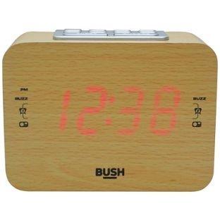 Bush wood clock radio alarm £6.99 @ Argos