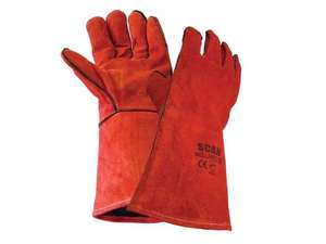 Scan Cowsplit Leather Welders Gauntlets £3.75 del @ Amazon (sold by Langley Steelworks Ltd - under other buying choices)