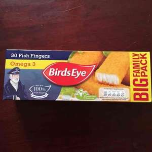 Birds Eye Omega 3 Fish (Alaskan Pollock 58%) Fingers (30 = 840g) was £4.00 now £3.00 (Rollback Deal) @ Asda