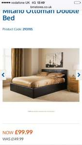 B&M ottoman Double Bed £99.99