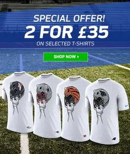 NFL T-Shirts 2 for £35 @ NFL Shop Europe